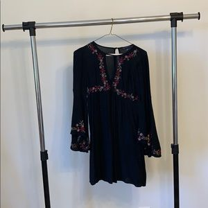 American eagle embroidered dress | xxs| black